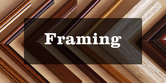 Tim's Art Supplies offer framing